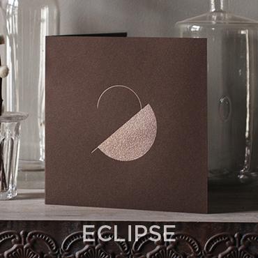 Présentation de la carte de voeux 2020 modèle ECLIPSE conçue et imprimée par Intaglio