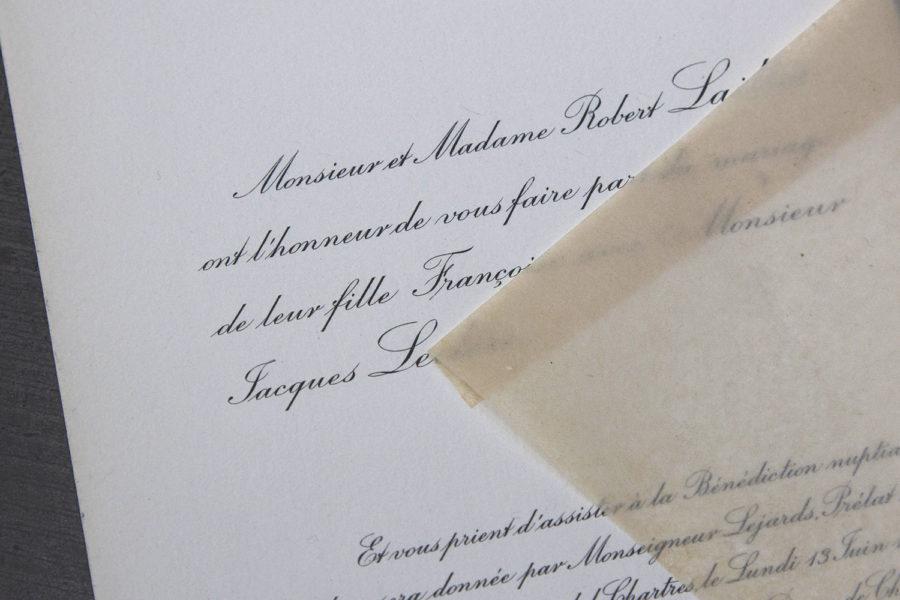 Faire-Part Mariage Archive Imprimerie Intaglio