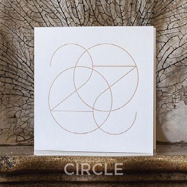 Présentation de la carte de voeux 2020 modèle CIRCLE conçue et imprimée par Intaglio