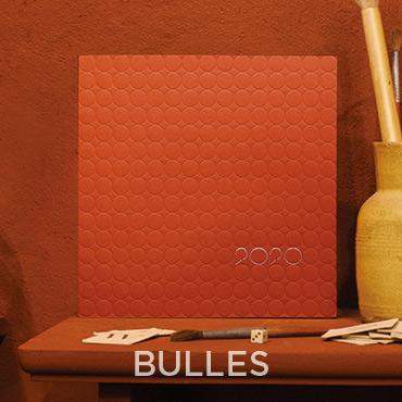 Présentation de la carte de voeux 2020 modèle BULLES conçue et imprimée par Intaglio