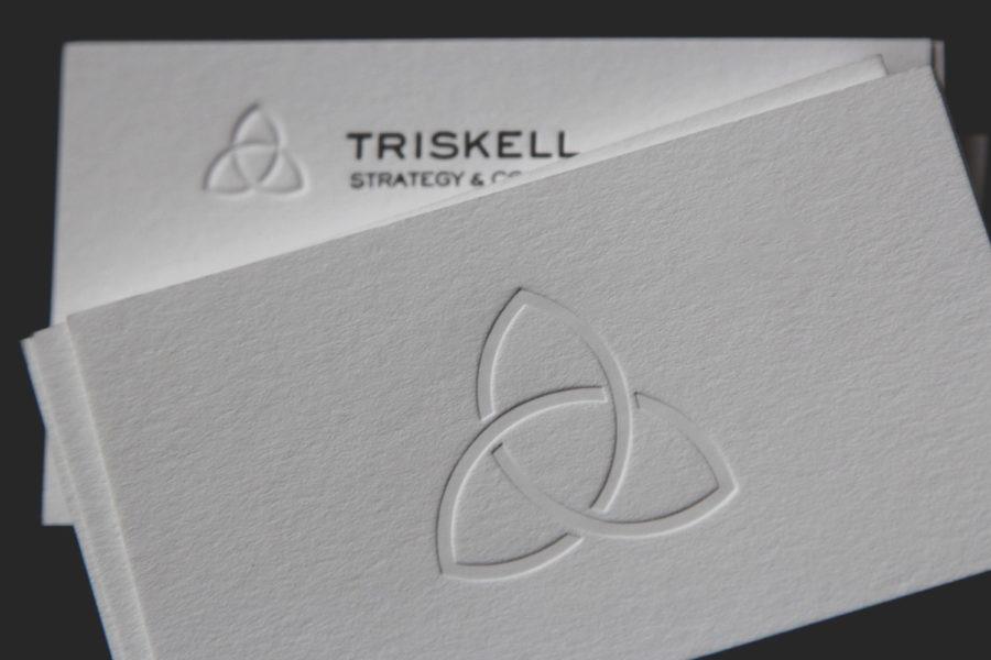 carte de visite estampée Triskell