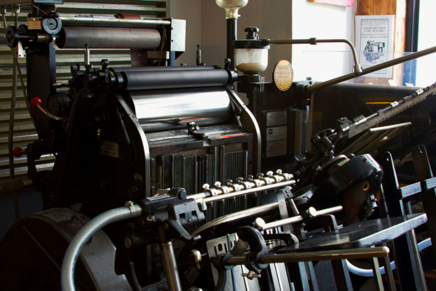 Intaglio imprimerie Atelier presse typographie Heildelberg