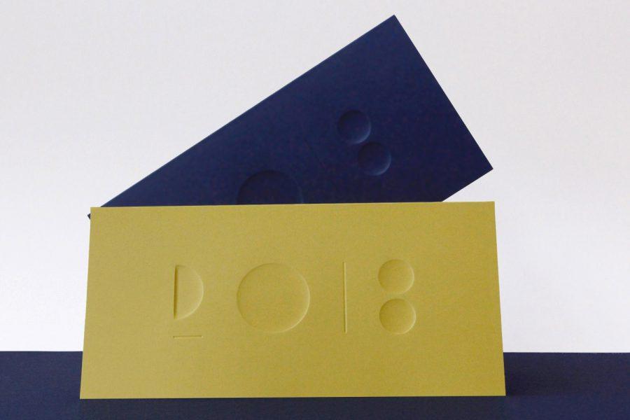 Carte de voeux 2018 Ceramique bleu energia