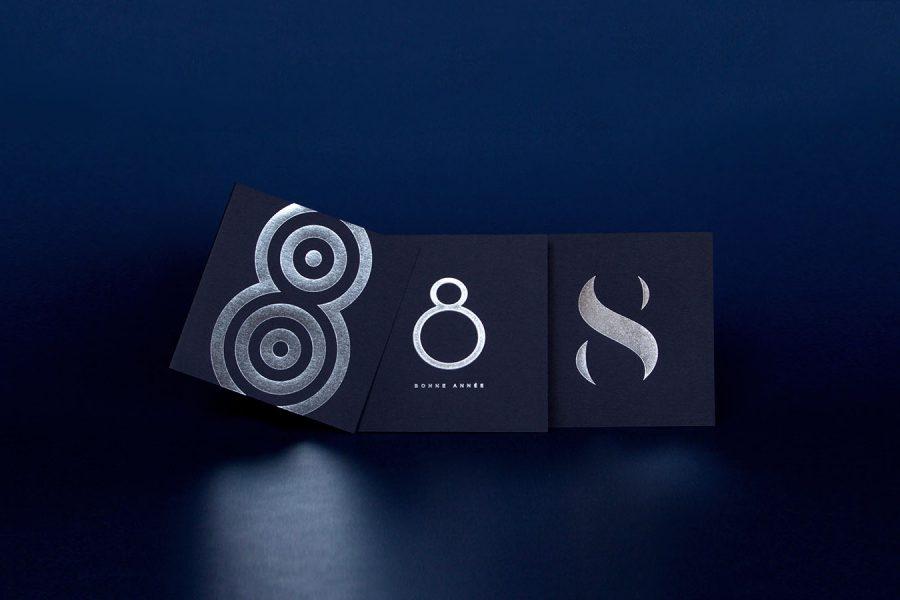 Bandeau Carte de vœux 2018 popheight ring silhouette argent bleu