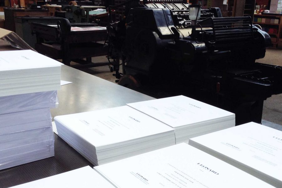 Atelier en typographie de l'imprimerie Intaglio Paris